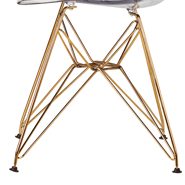 Стул Eames DSR gold (прозрачный)