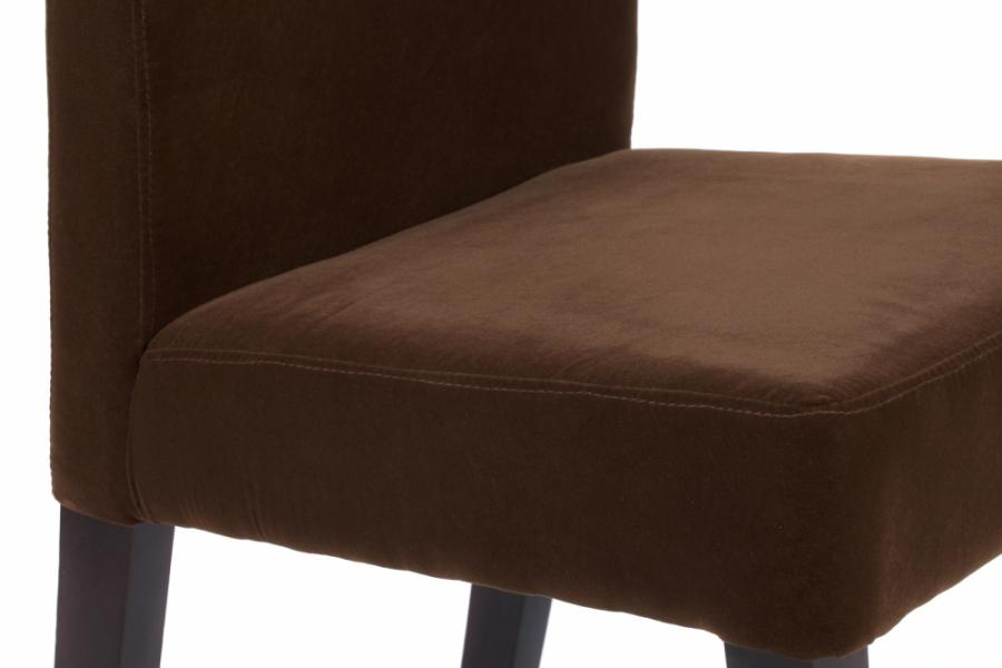 Стул мягкий с низкой спинкой коричневый велюр Junior