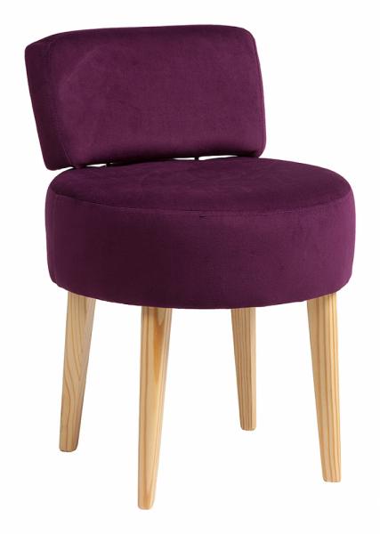 Стул мягкий круглый с низкой спинкой фиолетовый Lordinio