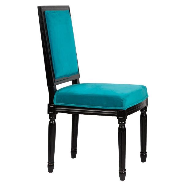 Стул обеденный синий с черными ножками Overture Blue