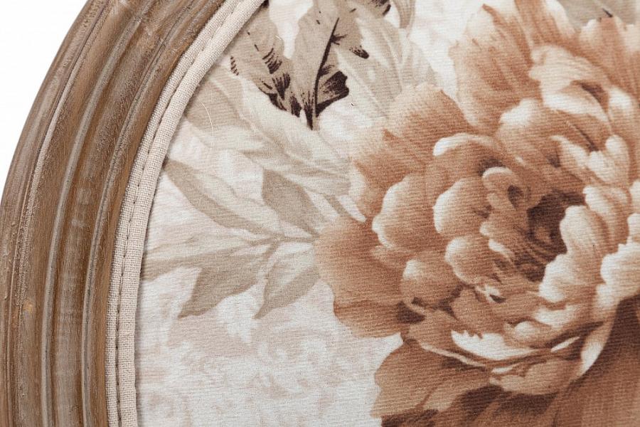 Стул с подлокотниками и медальонной спинкой Vintage Flowers
