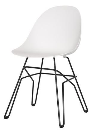 Пластиковый обеденный стул Sechuan White