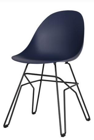 Пластиковый обеденный стул Sechuan Blue