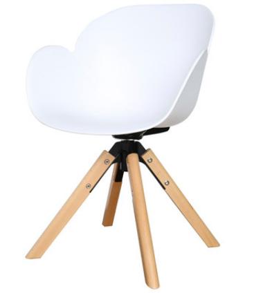 Белый обеденный стул Senchuan