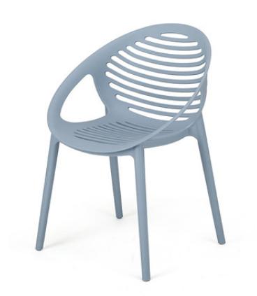 Голубой пластиковый стул Senchuan
