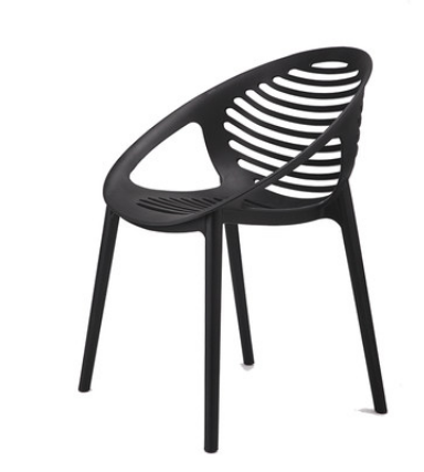 Черный пластиковый стул Senchuan