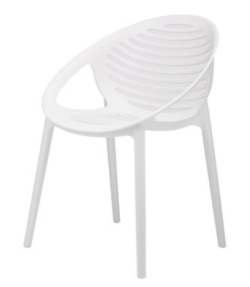 Белый пластиковый стул Senchuan