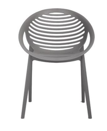 Серый пластиковый стул Senchuan