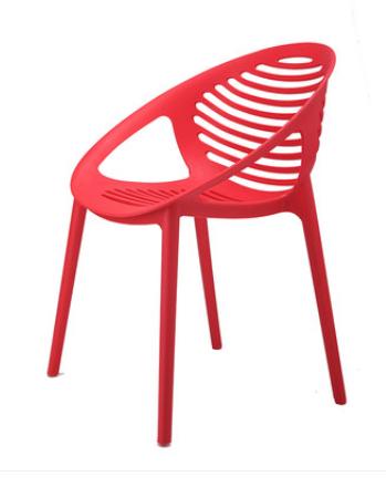 Красный пластиковый стул Senchuan