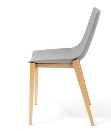 Серый деревянный стул Senchuan