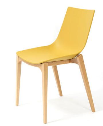 Желтый деревянный стул Senchuan