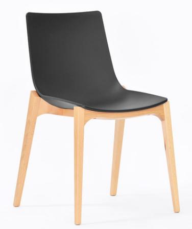 Черный деревянный стул Senchuan