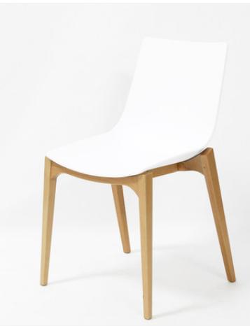 Белый деревянный стул Senchuan