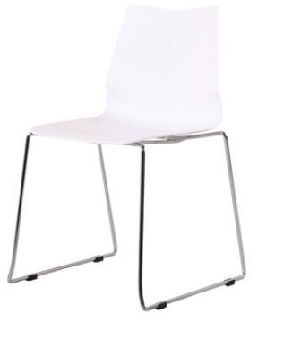 Белый обеденный стул Senchua