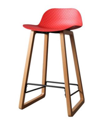 Красный барный стул Sechuan