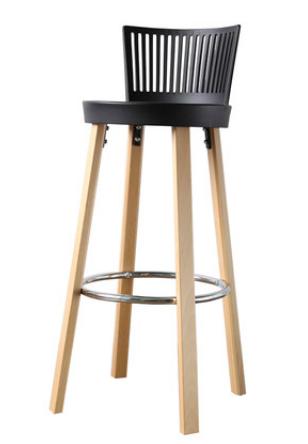 Черный деревянный барный стул Sechuan