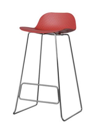 Простой барный стул Senchua Red