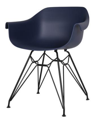 Синий пластиковый стул Sechuan