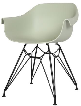Зеленый пластиковый стул Sechuan