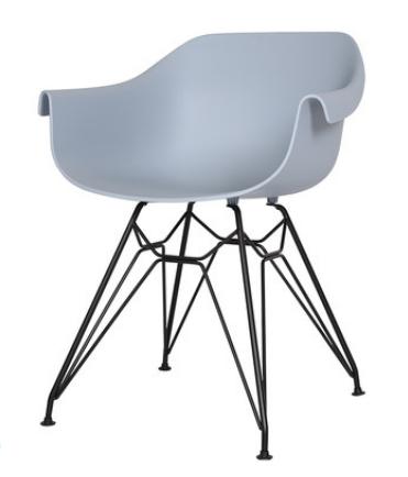 Голубой пластиковый стул Sechuan
