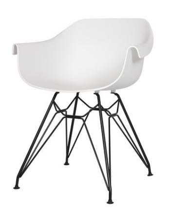 Белый пластиковый обеденный  стул Sechuan