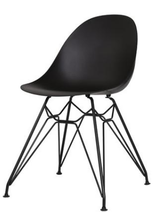 Обеденный пластиковый стул Black