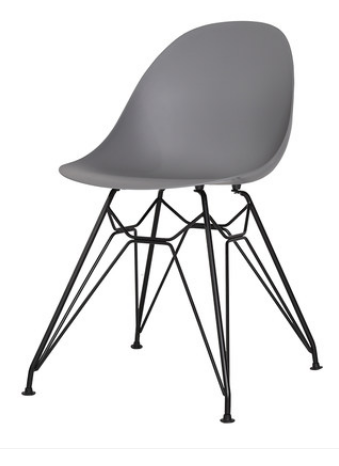 Обеденный пластиковый стул Grey